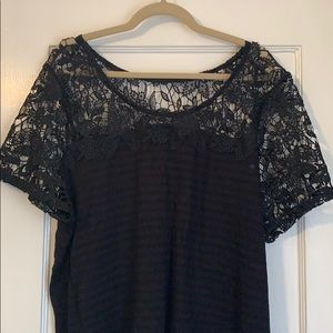 Lane Bryant Shirt with Lace Detail - 3X (22/24)